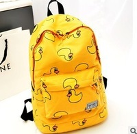 Cartoon school bag little duck backpack small fresh lovers bag canvas school bag women's handbag