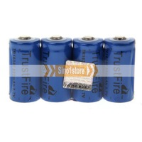 Free shipping.TrustFire TR 16340 3.7v 880mAh Rechargeable Lthium Batteries Installed Blue---IM1932R88