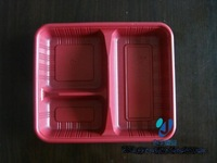Tableware disposable fast food box packing box mealbox lunch box lunch box 3 fps