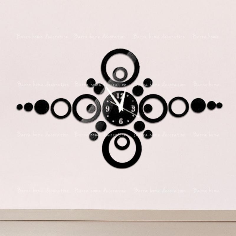 diy specchio orologio da parete decorazione soggiorno decorazione
