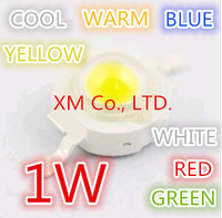 1W LED Bulbs Lamp beads White 300mA 3.2-3.4V 100-110LM 30mil Taiwan Genesis Chip (Red Green Blue Yellow Warm White) 50pcs