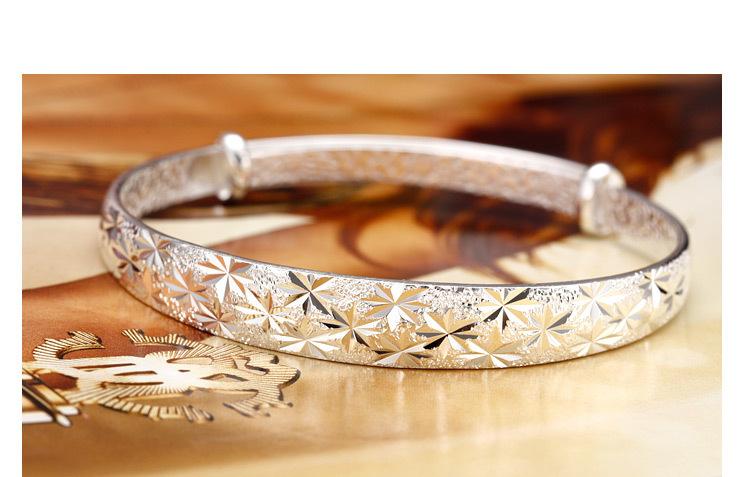 Pure Silver Bangles Silver 925 Bracelet Pure