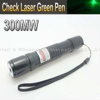 Check Laser Black 300mW Green Laser Pointer Pen