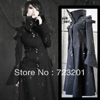 Gothic punk  design turtleneck long trench y-209