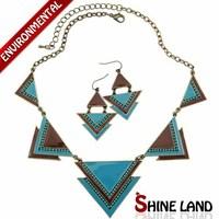 Free Shipping 2014 New Arrival Bohemia Style Fashion Ethnic Enamel Beads Choker Necklace&Hook Earring Jewelry Sets