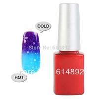 5 PCS/ lot 2013 Hot 12ML Temperature Color Change Nail Art Soak Off Color UV nail gel polish set 24 color Choose Free shipping
