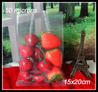 Clear plastic bags(15x20cm)thicker Open top packing bags/Poly bag for wholesale