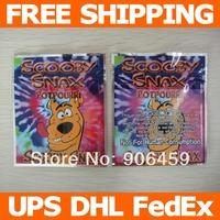 Free shipping,3.3''x4''(8.5x10cm) Scooby snax zip lock bags