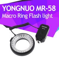 YONGNUO MR-58 58 LED Macro Ring Flash light for Canon Nikon Pentax Fuji Olympus Free Shipping