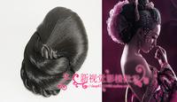 Wig bun meatball head wig button costume bud head