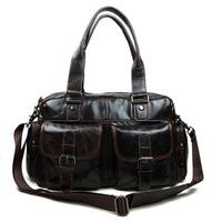 Vintage Genuine Full Grain Leather Cowhide Oil Wax Leather Men Handbag Handbags Messenger Bag Shoulder Bag Bags For Men A-061
