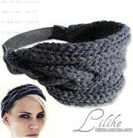 Wholesale and Retail Europe style handmade sequin elastic headband hairband hiar accessory black champagne multi-red 3.5cm 6pcs