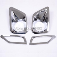 Chrome FRONT & rear Fog light Lamp Cover Trim for 2013 2014  RAV 4 RAV4 4pcs Car trim