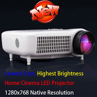 Top Quality Home Theater LED HDMI Video Projectors Overhead Audio Proyector  USBx2 1920X1080 HD Data Show Projecteurs Cinema
