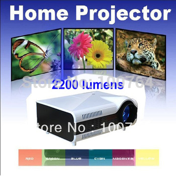 Wholesale Price!! hd 3d mini projector, Support XBOX, PS3, Wli and other game console, 2200 lumens digital mini projector