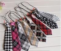 Free shipping 10pcs/lot in random colors Children Ties necktie choker cravat boys girls ties Baby Scarf neckwear