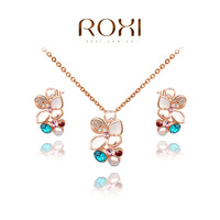 ROXI fashion new arrival, genuine Austrian crystal,Delicate Gold plated Jewelry Set, Chrismas /Birthday gift,2070023870