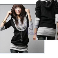 Large Size U-neck Long-sleeved Autumn Jacket Women Fashion Cotton Long Sporting Suits Women Hooded Sweatshirts 2312