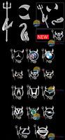 [Super Deals] New 3D Devil Style Demon Sticker Car Emblem Logo Paper wholesale