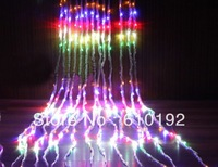 Free Shipping 3x3m flashing Waterfall led string light curtain light 480pcs LED Outdoor Holiday Decoration 220V EU plug