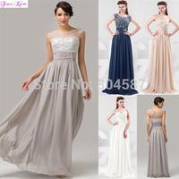 Free Shipping!Elegant Grace Karin A-line Chiffon Full Length Ball Prom Wedding Party Formal Dress Evening Gowns AL16 CL4473