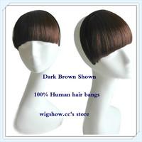 Custom Color Straight bangs with black headband Human Hair wigs Fringe