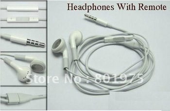 50PCS/LOT Newest Version 100% OEM Original Earphones Headphone w/ Remote and Mic for iPhone 4S 4G 3GS Latest Genuine Earphone