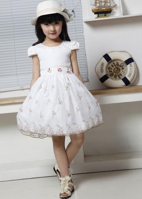 جديد فساتين البنات 2013 التطريز فستان زواج الأطفال ملابس خارجية ملابس الطفل ملابس الاطفال اللباس الصيف عارضة فساتين توتو(China (Mainland))