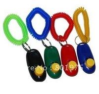 800pcs/lot** Dog Pet Click Clicker Training Trainer Aid Wrist Strap Obedience/Agility