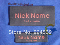 Garment  labels and tags woven by your designs, custom made Quality Designer Woven Labels to the Garment Industry.