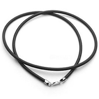 Silver leather rope pendant chains Factory price wholesale