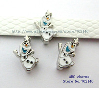 wholesale 100pcs 8mm Frozen-Olaf  Slide Charms  DIY accessory