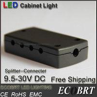 2015 Conector Ecobrt-12v Led Accessories Items Connectors/ Splitters 12v 24v for Low Voltage Puck Light/ Under Cabinet Light
