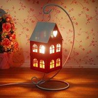 free shopping ,European Mediterranean red storm lantern lamp furnishing articles wedding romantic loving hut props candlestick