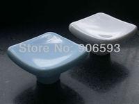 24pcs lot free shipping Porcelain elegance square cabinet knob\cabinet handle\drawer knob