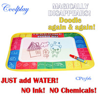 Free shipping 2pcs/Lot 29X19cm CP1366 4 color Water  Drawing Toys Mat Aquadoodle Mat&1 Magic Pen/Water Drawing  board
