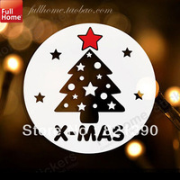 Christmas tree window stickers decoration
