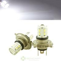 Car 16 LED 5730 SMD 5W H4 White Fog Driving Parking Light Lamp Bulb DC 12V