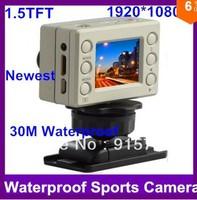"2013 New ExtremeNew Go pro Style Full HD 1080p Night Version Sports Camera With G-sensor, 30m Waterproof, 1.5"" LCD Free Shipping"