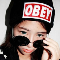 New 2013 Obey Embroidery Design Knitting Wool Fashion Cap Winter Woolen Hats For Women Snapback