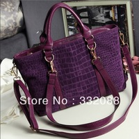 Fashion crocodile pattern nubuck big leather bags 2013 women's handbags  women messenger bag