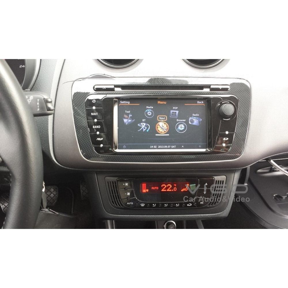 Araba teybi gps navigasyon seat ibiza radyo dvd oynatıcı multimedya