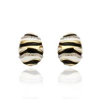 2013 18k Gold Plated Zebra Design Made Austria Crystal  Earrings Fashion Jewelry 18KGP E545