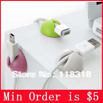 Min Order is $5,(1 Lot=6 Pcs) Electrical Wire Cable Winder Wire storage Cable Clip Cable management(China (Mainland))