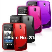 1pcs S line TPU gel soft cover case for htc Desire 500 6 colors choose