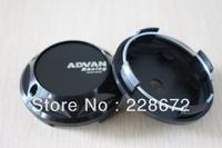 Free Shipping 68mm Black ABS ADVAN ENKEI Wheel Center Hub Cap ADVAN Sticker Wheel Covers