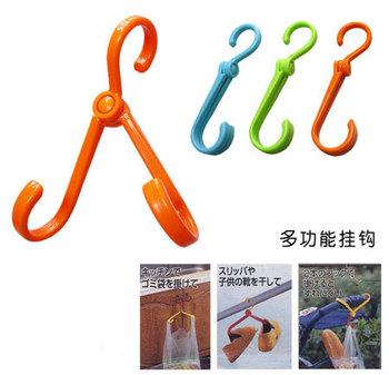 3334 lovely quality folding portable tripod plastic coat hanger drying shoes hook versatile creative furniture free shipping