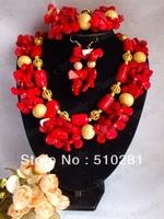 No. 2096 Design New african wedding jewelry set , coral jewelry set