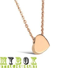 Free Shipping Wholesale Fashion Love chain Women's 18K gold plated 316L Stainless Steel Necklace for women/girls LE775