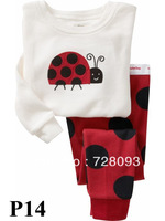 Retail BRAND 2013 new come Toddler  clothing childrens clothes 100%cotton  pyjamas for baby boy and girl  pijama long sleepwear